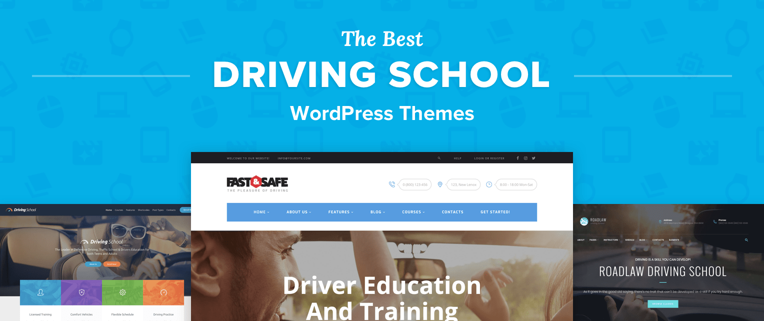 Driving School WordPress Themes