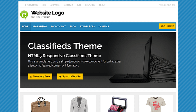 WordPress Classifieds theme demo