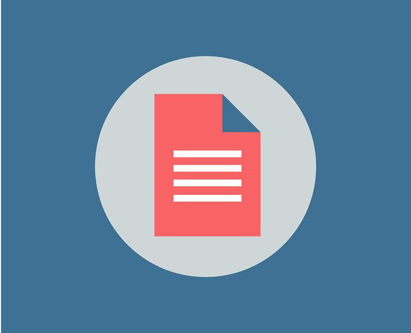 Unpublished document icon