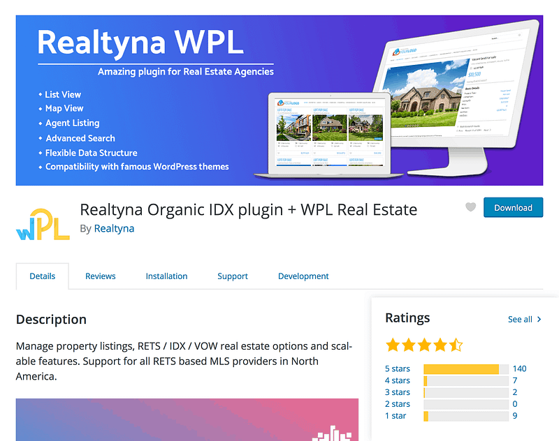 Realtyna IDX real estate plugin