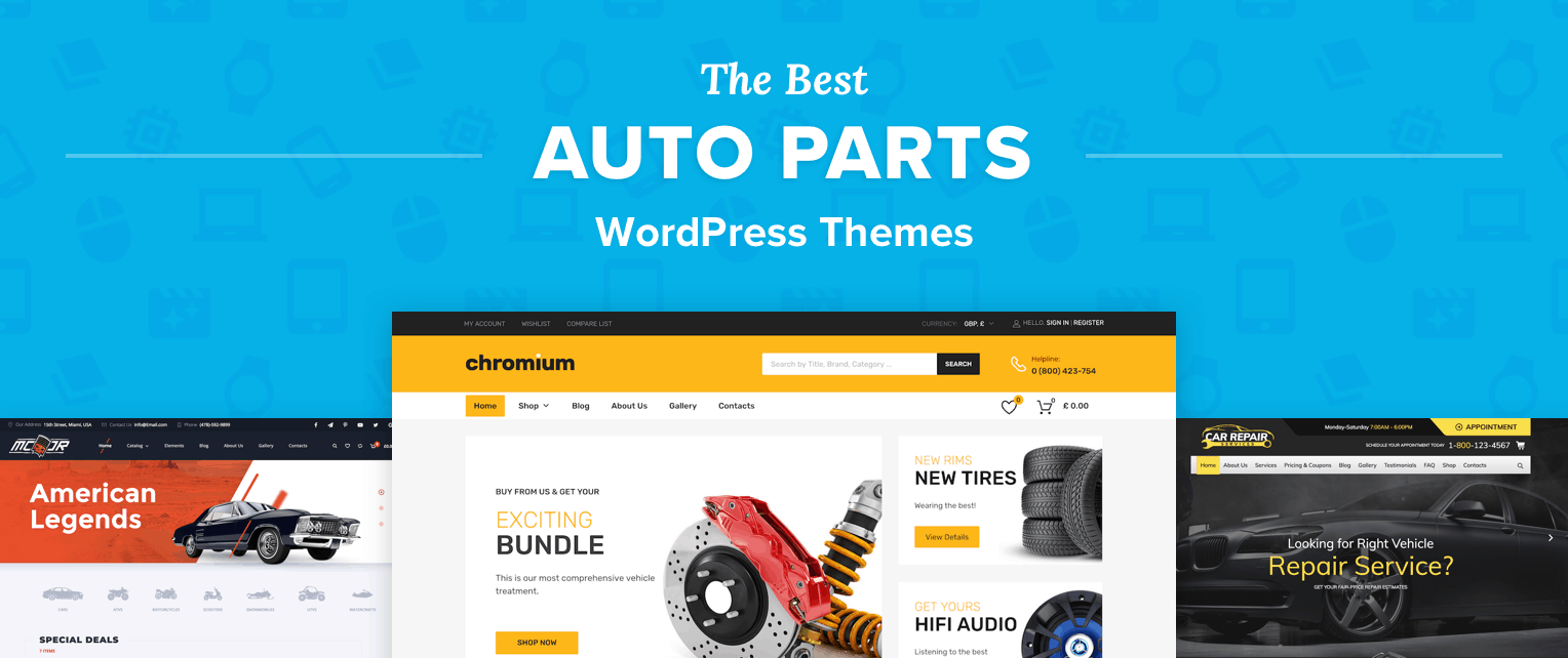 Best Auto Parts WordPress Themes
