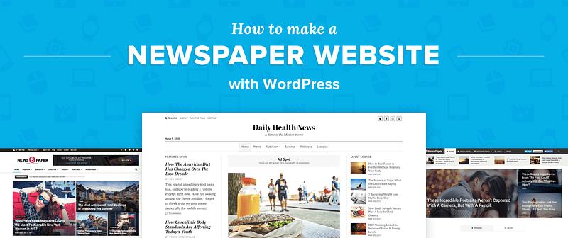 Make Newspaper Website