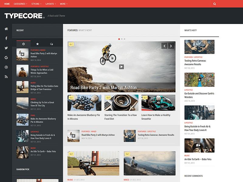 Typecore free theme for WordPress