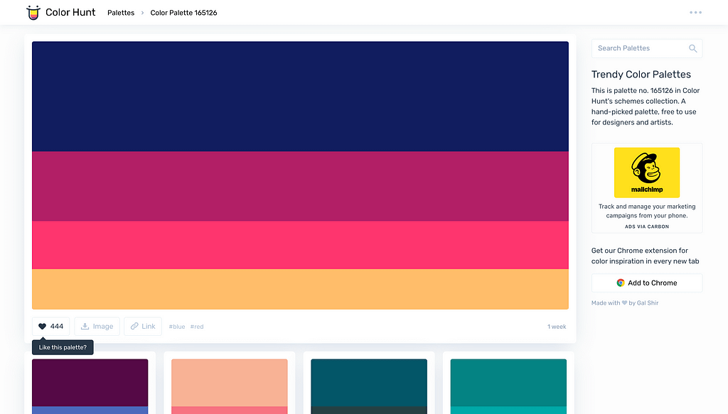 Palette Page