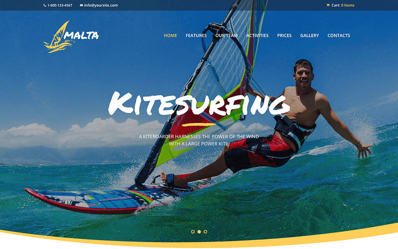 Malta windsurfing WordPress themes