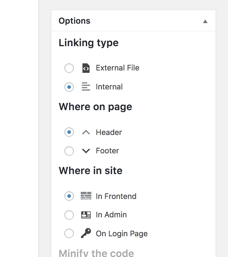 Simple CSS & JS Options