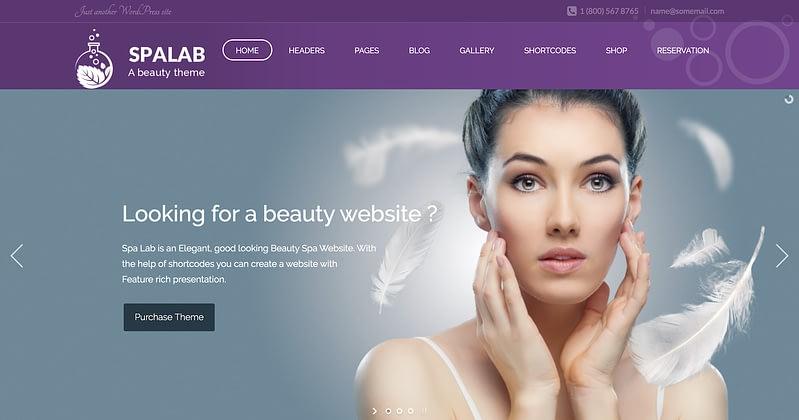 Spa Lab WordPress theme