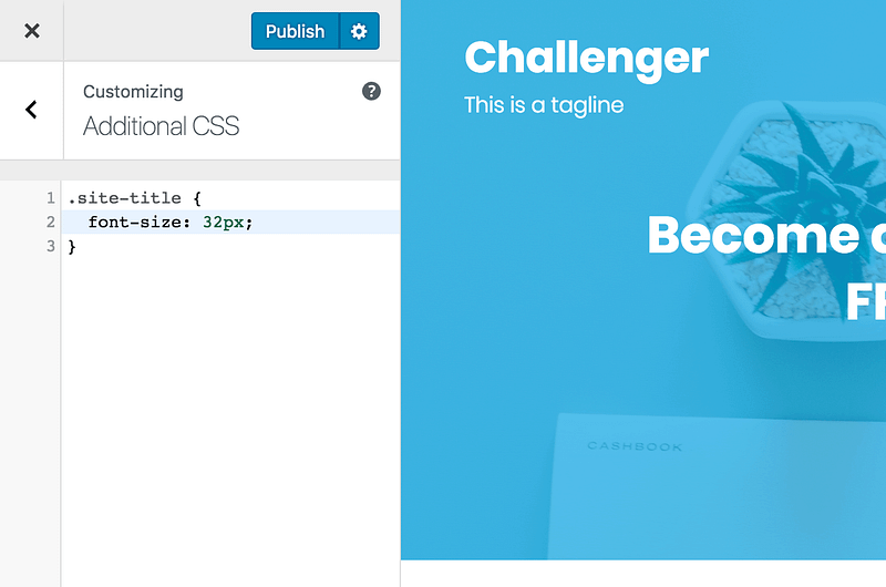 Example CSS