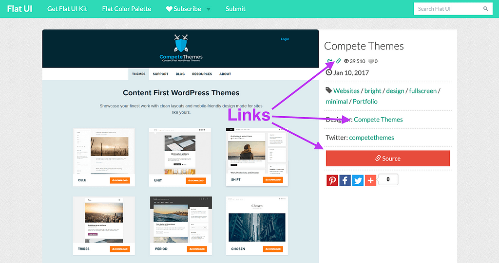 Links from a web design directory