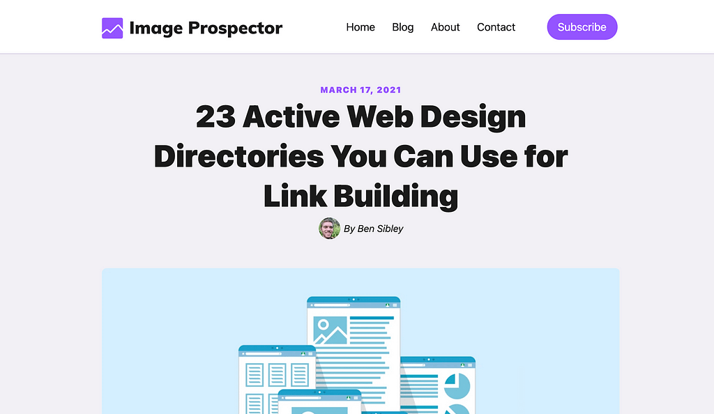 Web design directories article
