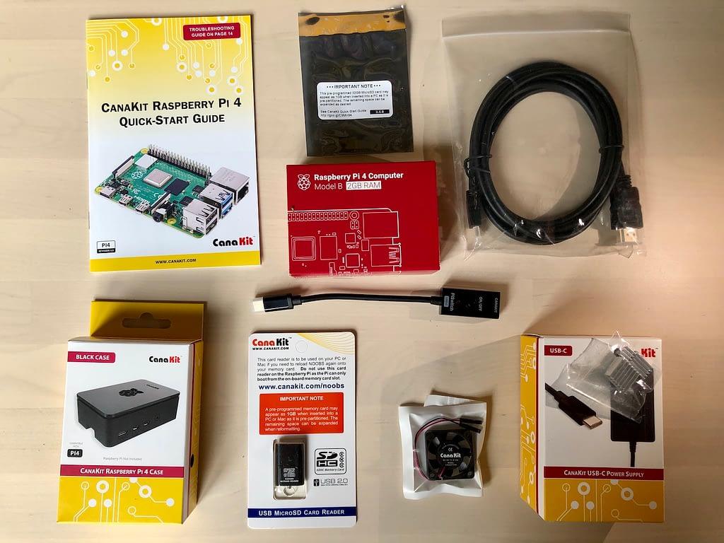 Canakit starter kit unboxd