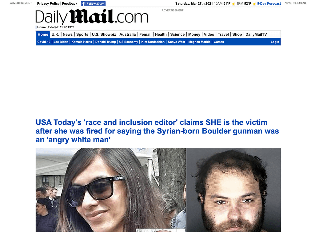 daily mail ads blocked