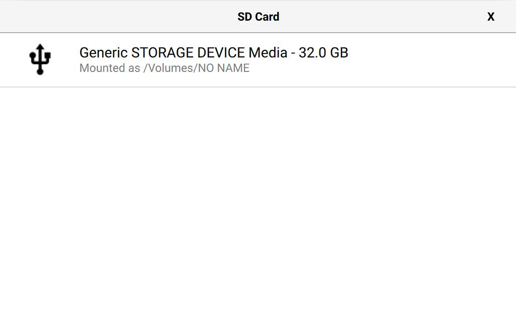 Available SD card