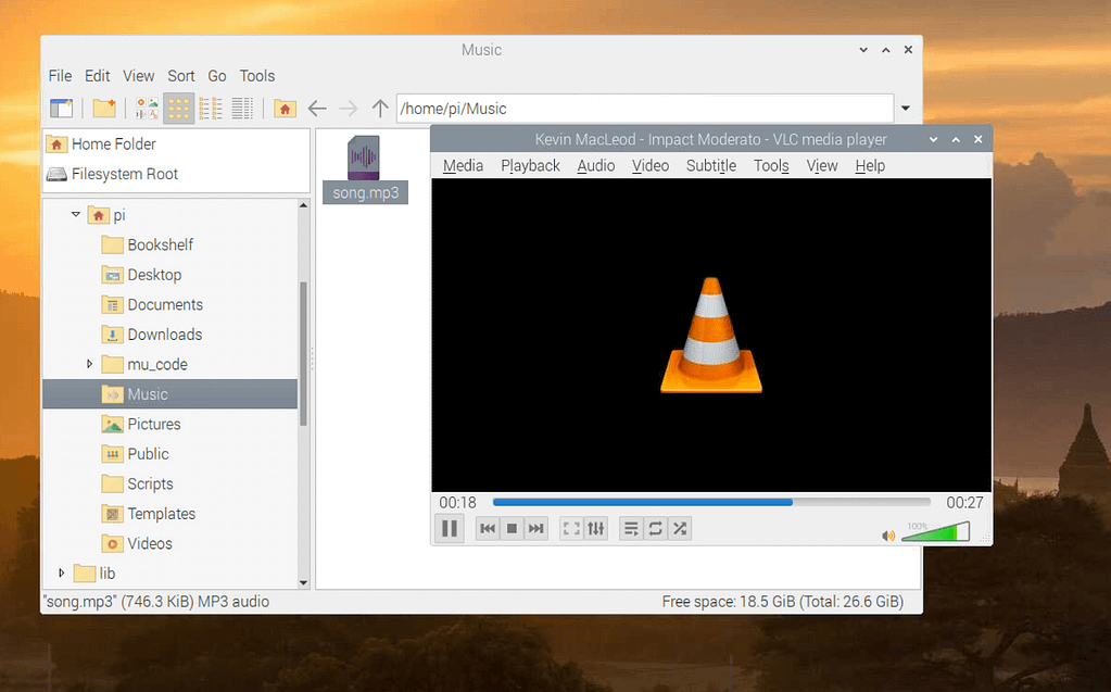 vlc playing song