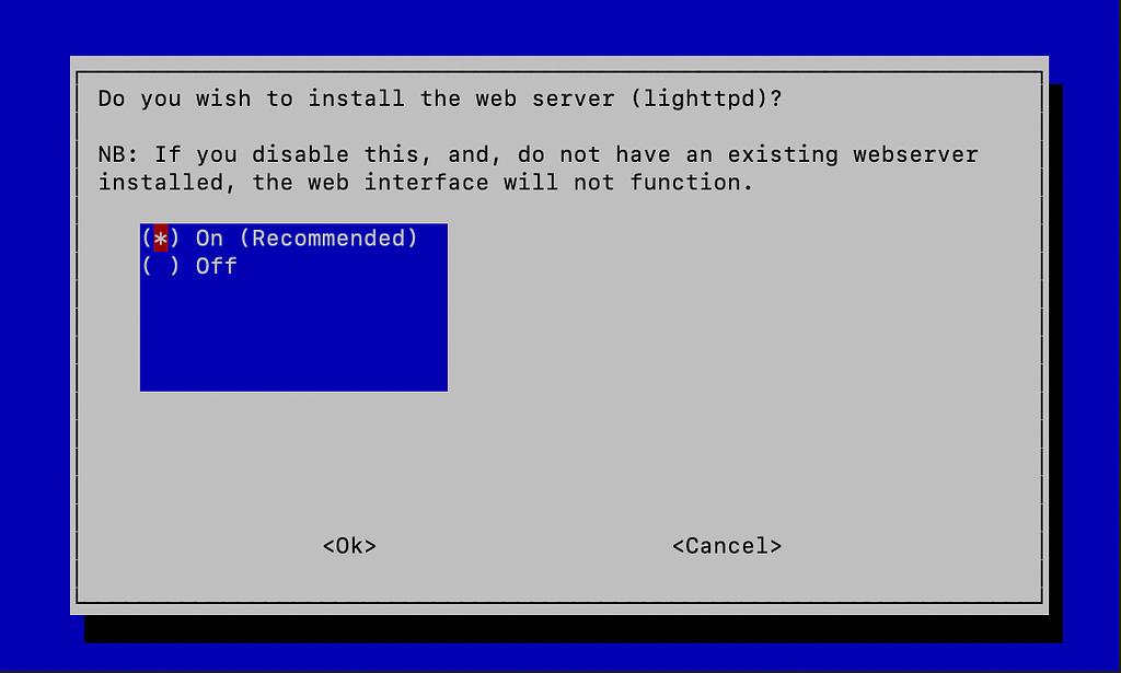 Install lighttpd server