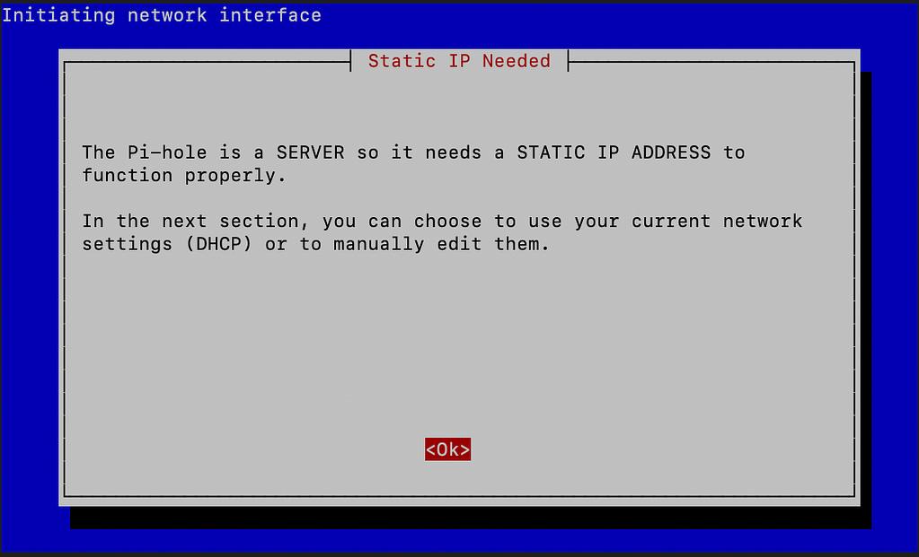 Set a static IP