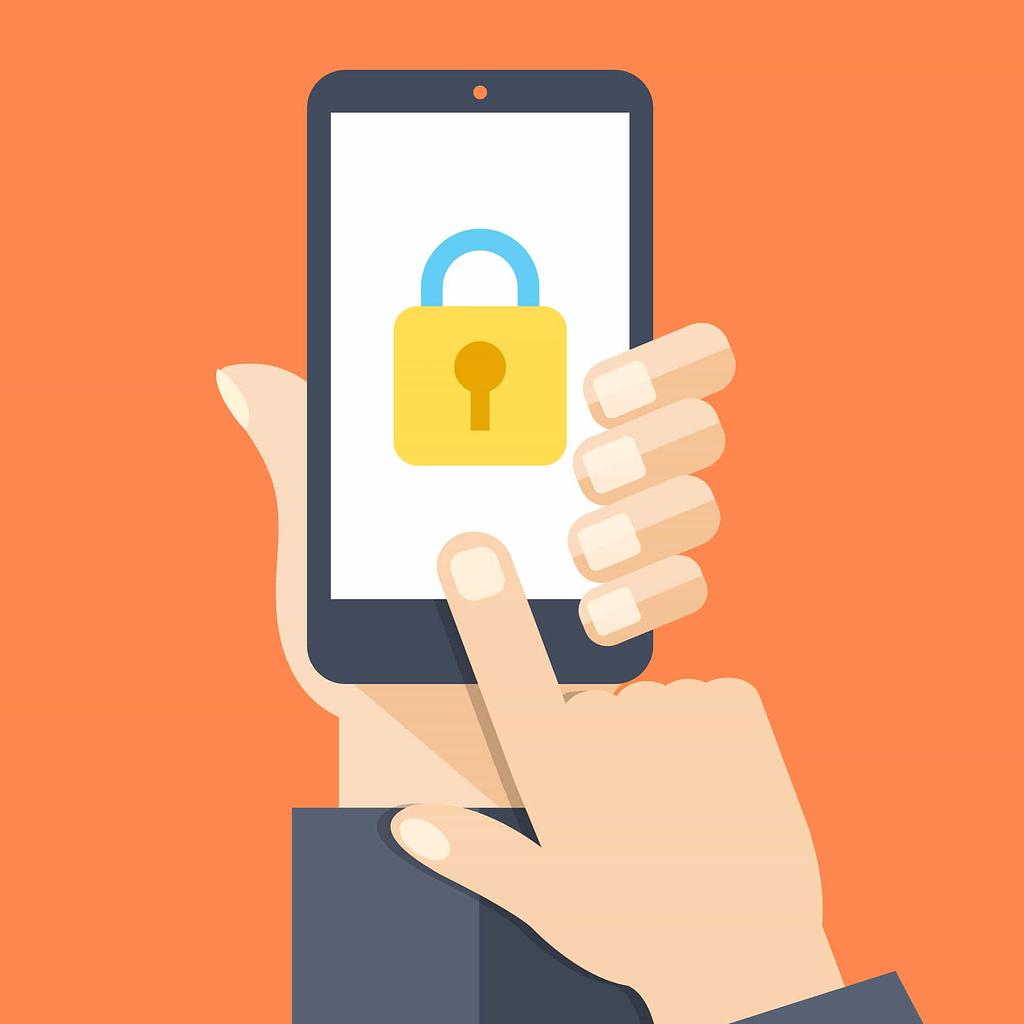image of website locked on phone