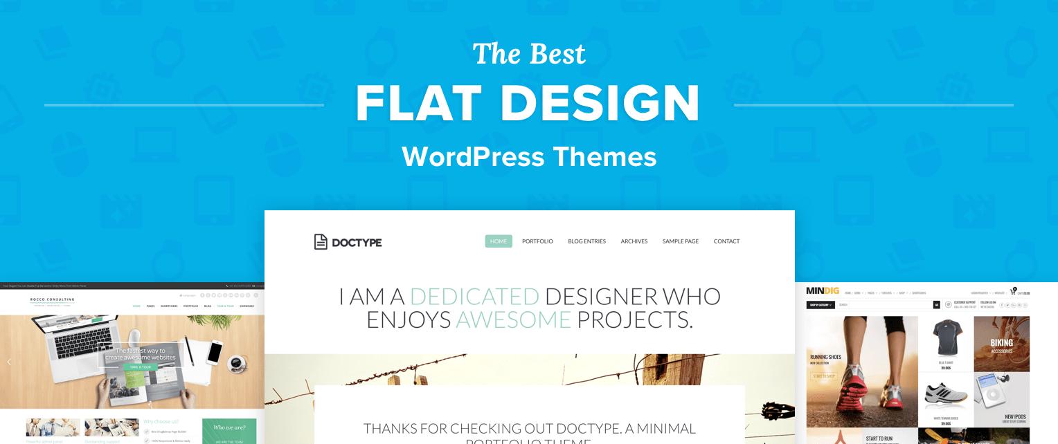 Flat Design WordPress Themes