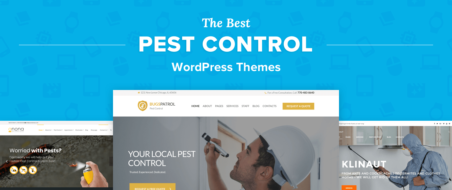 Pest Control WordPress Themes