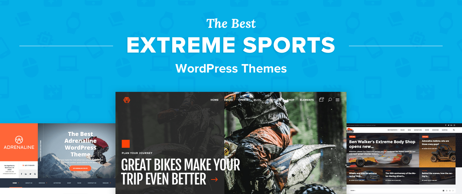Extreme Sports WordPress Themes
