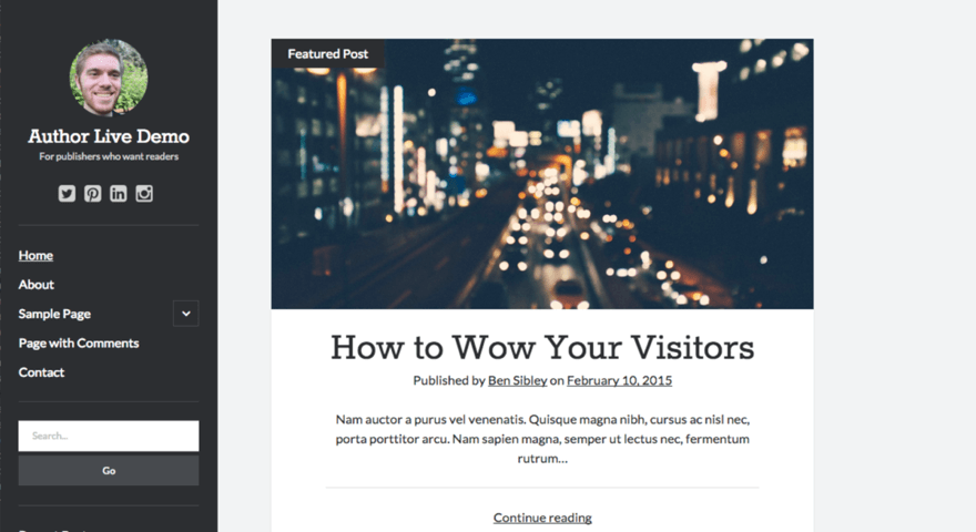 Author Wordpress Theme By Compete Themes