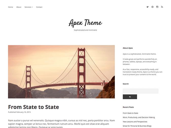 screenshot of Apex theme