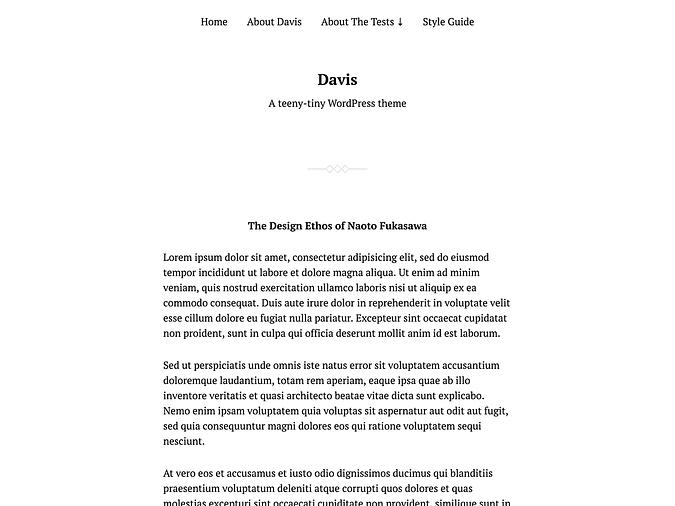 screenshot of the Davis theme