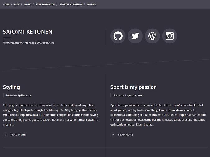 screenshot of the Some theme