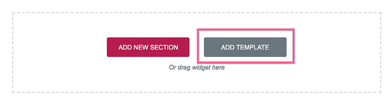 Add Template Button