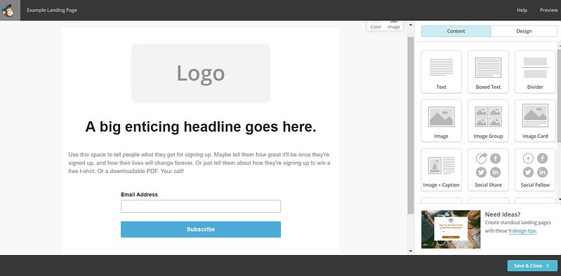 MailChimp Email Designer