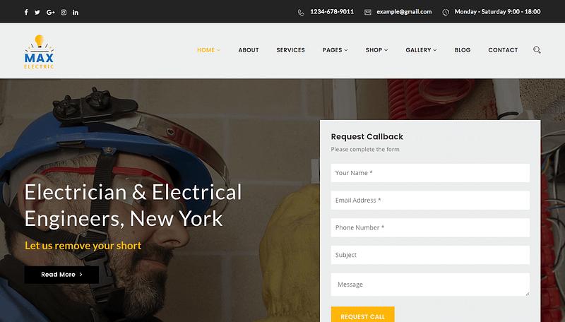 Max Electric theme for WordPress