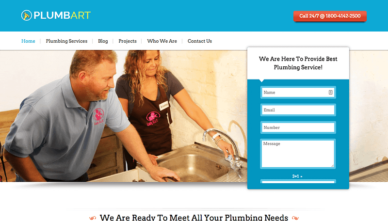 PlumbArt WordPress theme