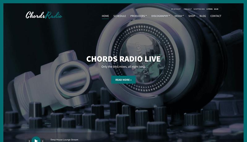 Chords podcasting WordPress Theme
