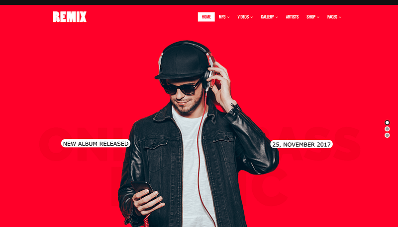 Remix WordPress theme
