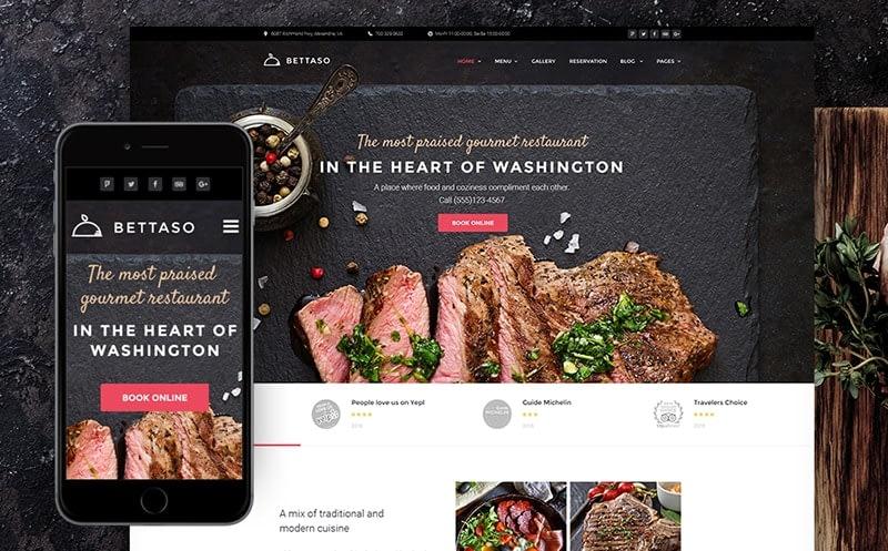 Bettaso Cafe & Restaurant WordPress Theme