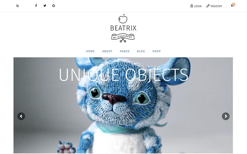 Beatrix eCommerce WP theme