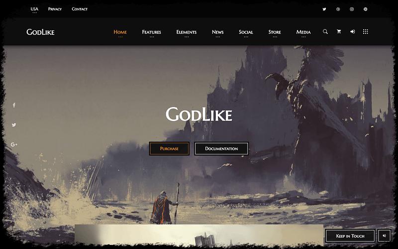 GodLike game dev theme