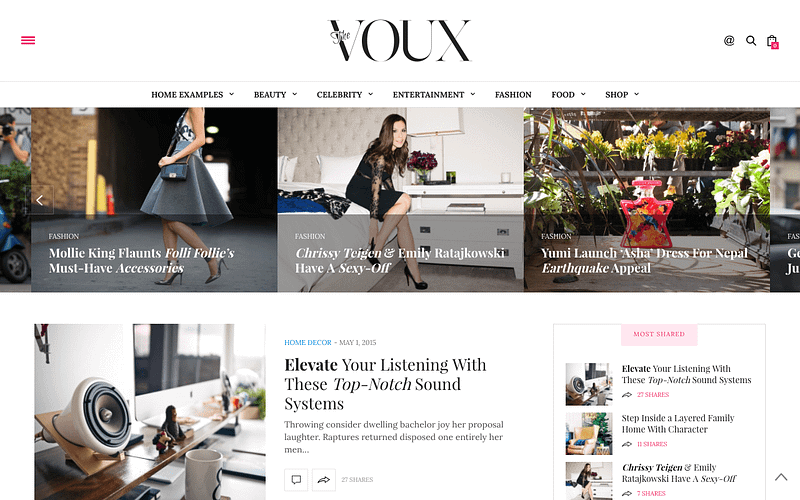 The Voux feminine magazine WP theme
