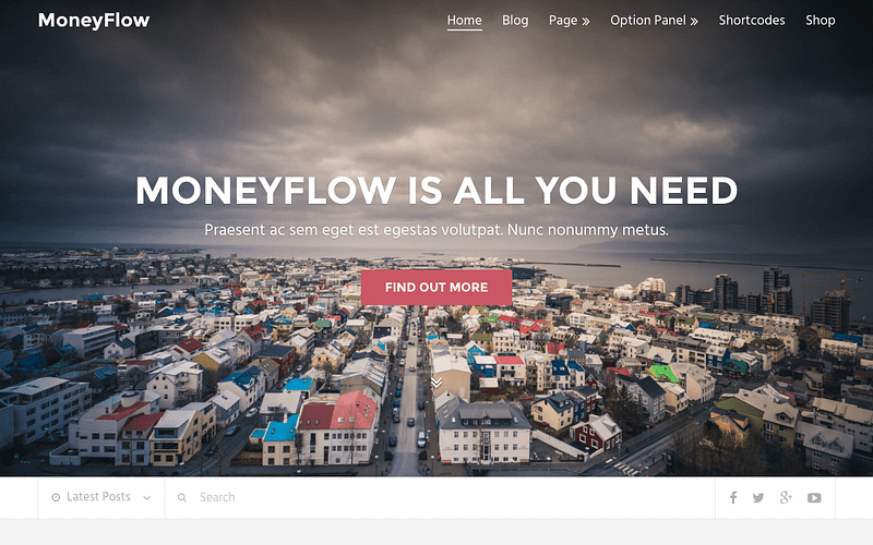 MoneyFlow SEO blog theme