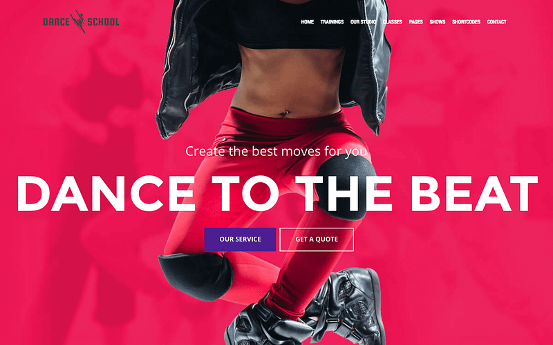 Dance School WP theme