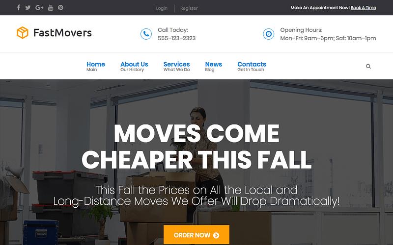 Fast Movers moving company WordPress theme