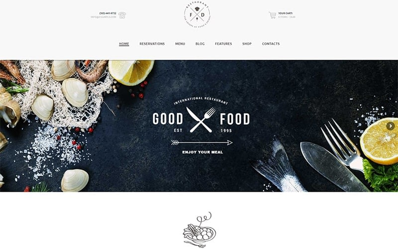 Food Drink Restaurant Cafe Pub Wp Theme