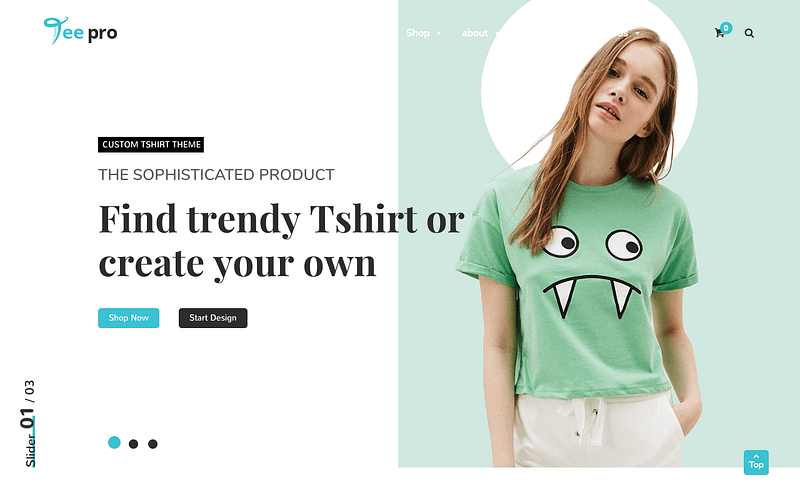 TEEPRO t-shirt store theme