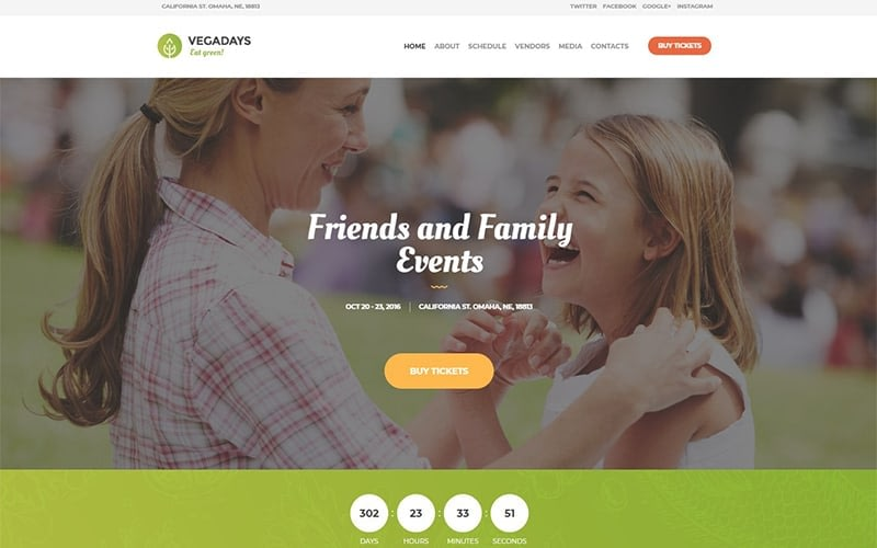Vegadays Vegetarian Food Festival Or Event Wordpress Theme