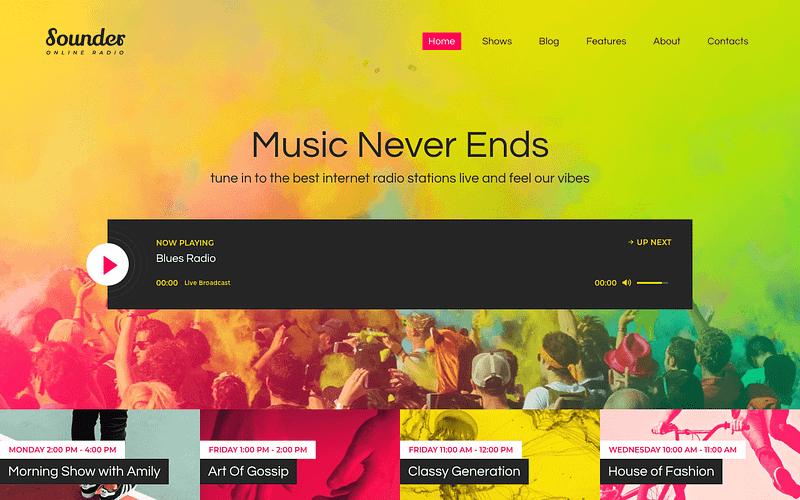 Sounder online radio theme