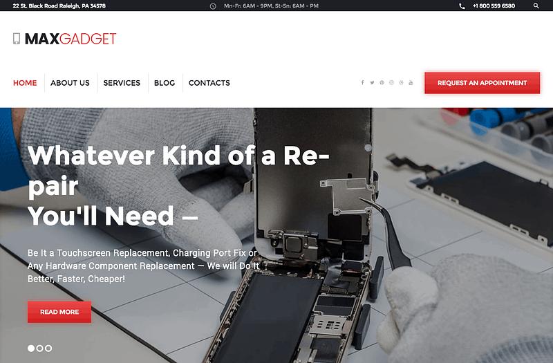 MaxGadget repair theme