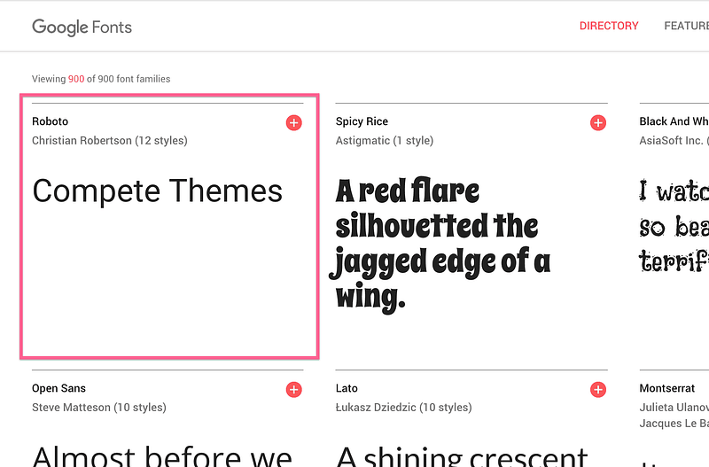 Google Fonts Custom Text