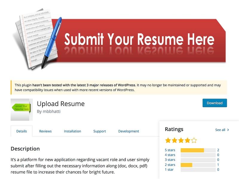 Upload Resume