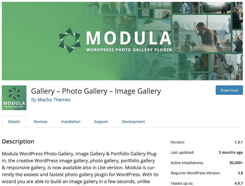 Modula gallery plugin
