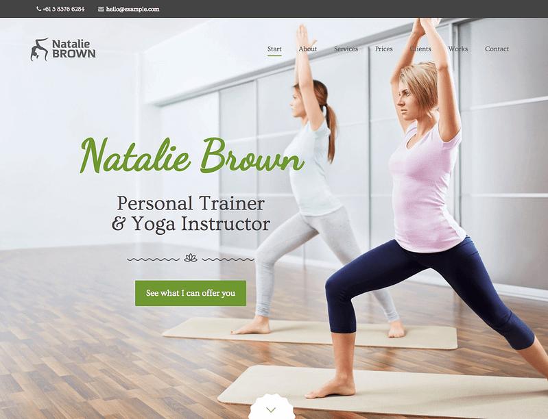 You personal brand WordPress theme